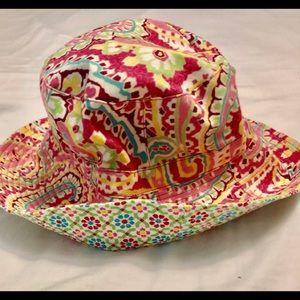 Vera Bradley pink paisley bucket hat